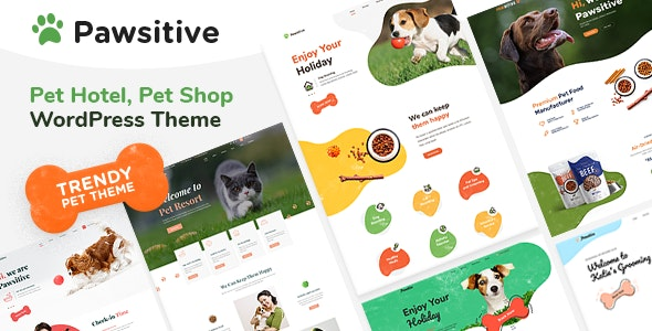 Pawsitive - Pet Care & Pet Shop - Retail WordPress
