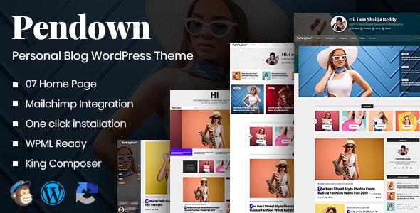 Pendown - Newspaper & Personal WordPress Blog - Blog / Magazine WordPress