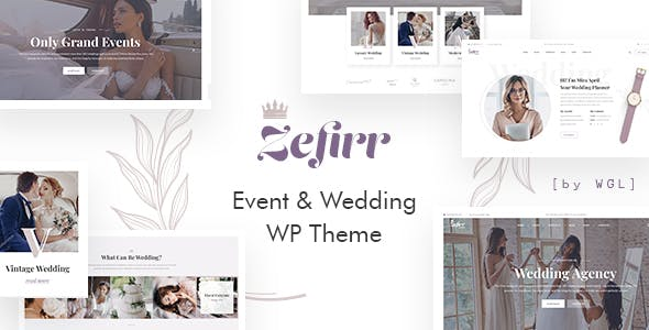 Download Zefirr - Event & Wedding Agency WP Theme