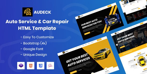Audeck - Auto Servicing HTML Template - Business Corporate