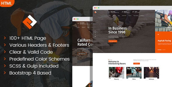 Pawex - Paving Contractor HTML Template - Business Corporate