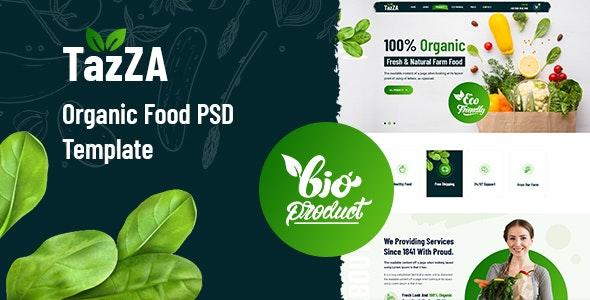 TazZA - Organic Food PSD Template - Food Retail
