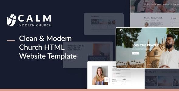 Calm - Modern Church HTML Website Design for Religious and Non-Profit Organizations - Churches Nonprofit
