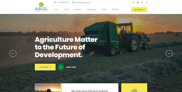 Agrool - Agriculture Farming PSD Template
