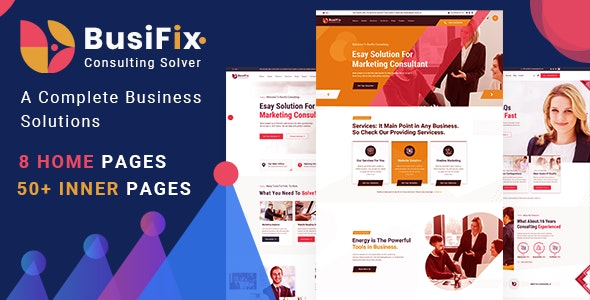 Busifix - Business Consulting and Professional Services HTML Template - Corporate Site Templates