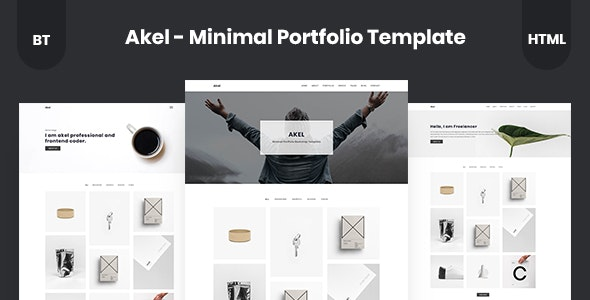 Akel - Minimal Portfolio Template - Portfolio Creative