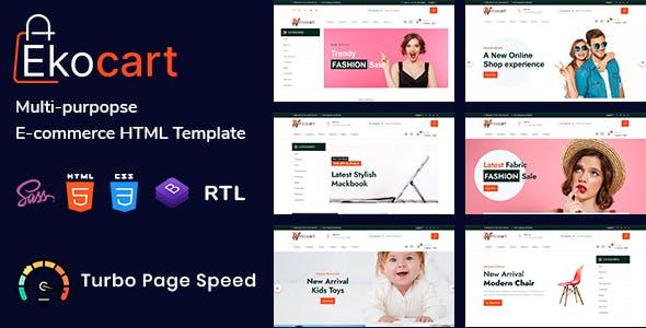 Download Ekocart - Multi-purpose E-commerce HTML5 Template