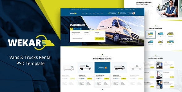 Wekar - Transport Listing PSD - Business Corporate