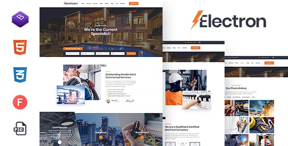 Electron - Electrical Services HTML Template - Corporate Site Templates