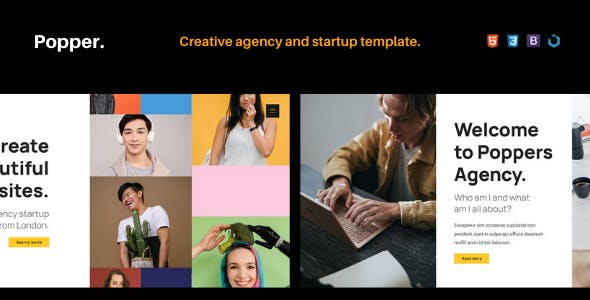 Popper — Creative Agency and Startup Portfolio Template