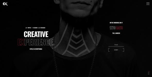 Splitex - Creative Coming Soon Template
