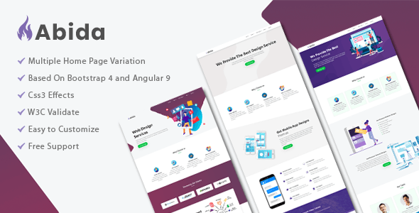 Abida - Premium angular template - Corporate Site Templates