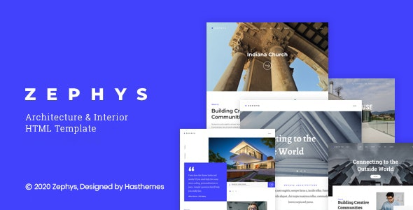 Zephys - Architecture & Interior HTML Template - Business Corporate