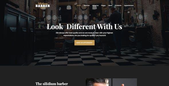 Slidium Barber PSD Template