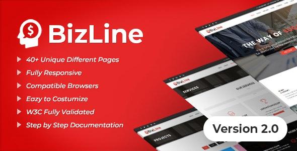 Bizline - Business and Corporate HTML Template - Corporate Site Templates