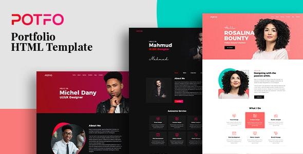 Potfo - Personal Portfolio HTML5 Template with RTL support - Portfolio Creative