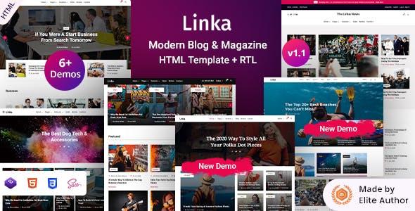 Download Linka - Modern Blog & Magazine HTML Template