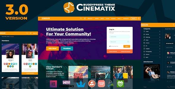 Cinematix - BuddyPress Nouveau Membership Theme - BuddyPress WordPress