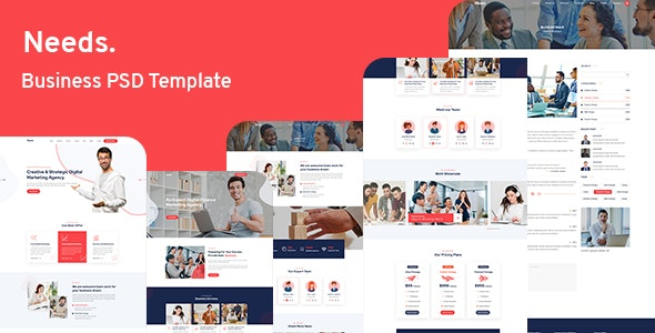 Needs - Business PSD Template - Business Corporate