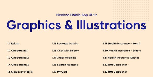 Medicos - Healthcare Mobile Sketch App UI Kit