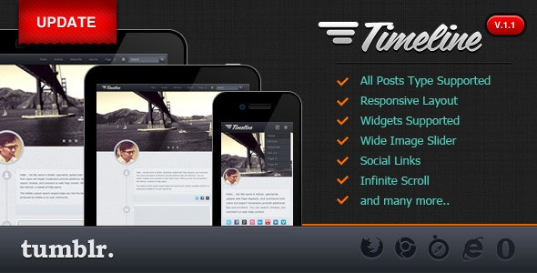 Timeline - Premium Tumblr Theme - Tumblr Blogging