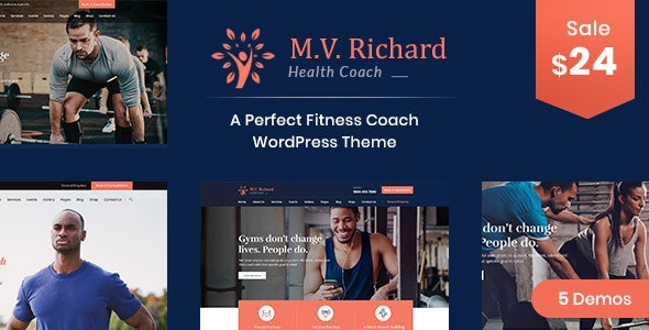 MV Richard - Health and Fitness WordPress Theme - Health & Beauty Retail