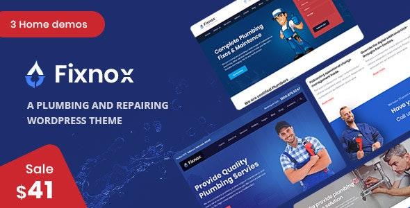 Fixnox - A Perfect Plumbing WordPress Theme - Business Corporate