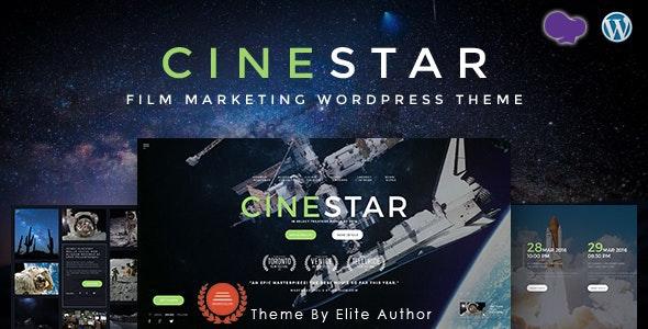 CINESTAR | Film Marketing Responsive WordPress Theme - Film & TV Entertainment