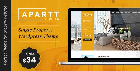 APARTT VILLA - Single Property Real Estate WordPress Theme - Real Estate WordPress