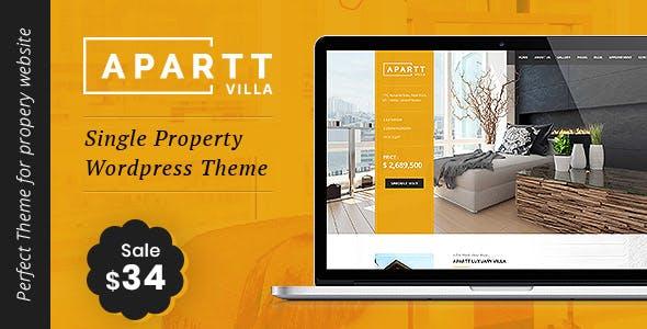 APARTT VILLA - Single Property Real Estate WordPress Theme
