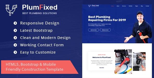 PlumFixed - HTML Template - Corporate Site Templates