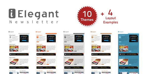 i-Elegant Newsletter - 10 Themes