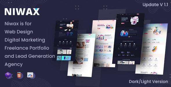 Niwax - Creative Web Design & Digital Marketing Agency HTML5 Template - Portfolio Creative