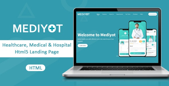 Mediyot - Healthcare, Medical & Hospital Html5 Landing Page - Health & Beauty Retail
