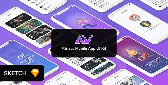 Amerivex Fitness Mobile App UI - Retail Sketch