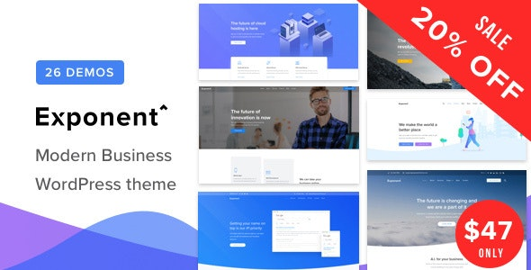 Exponent - Modern Multi-Purpose Business WordPress theme - Business Corporate