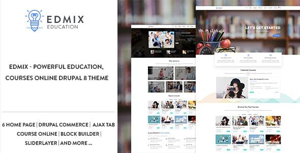 Edmix - Powerful Education, Courses Online Drupal 9 Theme