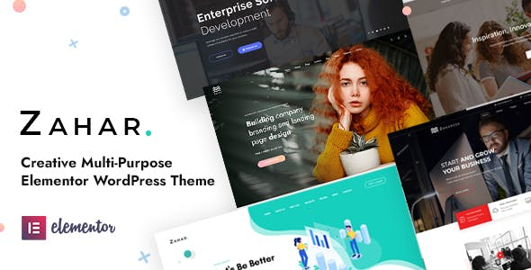 Download Zahar - Creative Multipurpose Elementor WordPress Theme