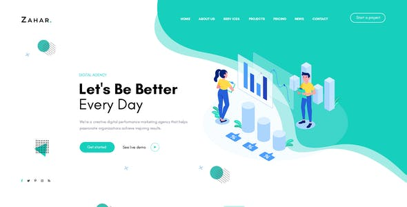 Zahar - Creative Multipurpose Elementor WordPress Theme