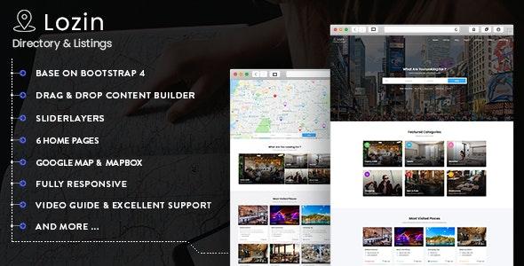 Lozin - Directory & Listing Drupal 9 Theme - Business Corporate