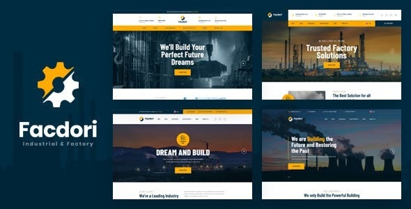 Facdori - Industrial & Factory Business Drupal 9 Theme - Business Corporate
