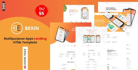 Bexin - Sass App Landing HTML5 Template - Technology Site Templates