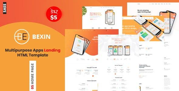 Download Bexin - Sass App Landing HTML5 Template