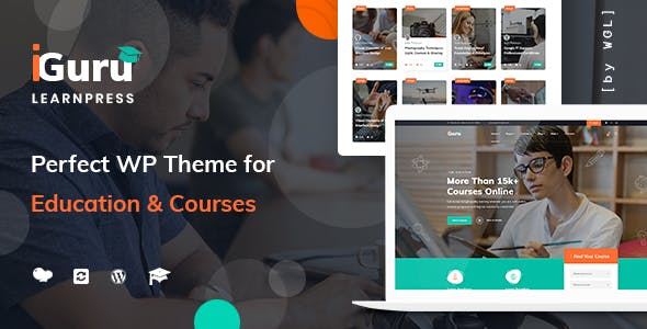Download iGuru - Education & Courses WordPress Theme