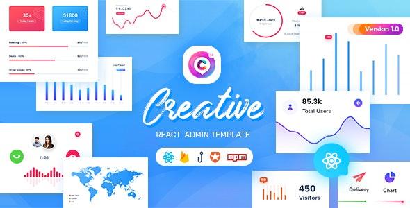 Creative - React Admin Template - Admin Templates Site Templates