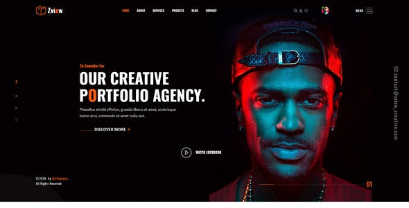 Zview - Personal Modern & Creative CV/Resume PSD Template