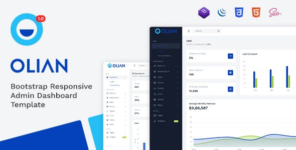 Download Olian - Bootstrap Minimal & Clean Admin Template