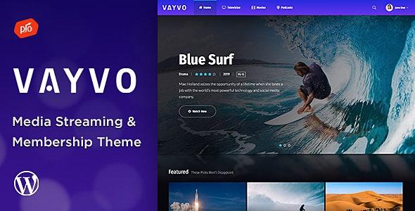 Vayvo - Media Streaming & Membership Theme - Film & TV Entertainment