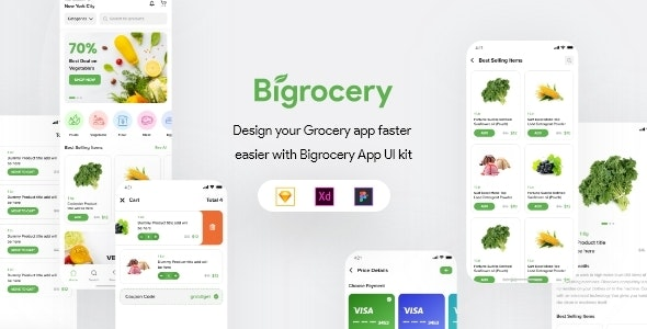 Bigrocery UI Kit - Food Retail