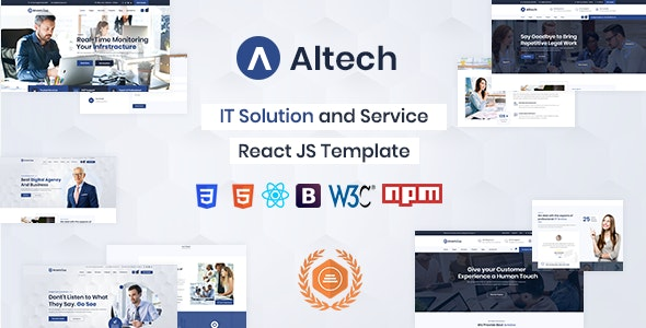 Altech - React IT Solutions & Multi Services Template - Business Corporate